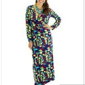 TRACY NEGOSHIAN Devon Crayola Maxi Dress